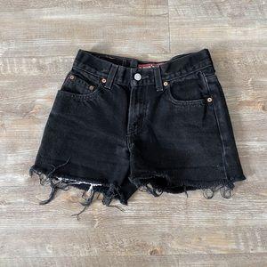 Levi's washed black denim shorts 24